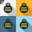 Best dad sign icon. Award weight symbol. — Stock Photo #42380421