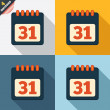 Stock Photo: Calendar sign icon. 31 day month symbol.