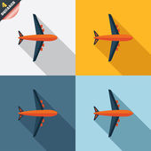 Airplane sign. Plane symbol. Travel icon. — Stok fotoğraf