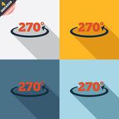 Angle 270 degrees sign icon. Geometry math symbol — Foto de Stock