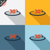 Icono de signo de 30 grados de ángulo. símbolo de matemáticas de geometría — Foto de Stock