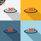 Angle 30 degrees sign icon. Geometry math symbol — Foto de Stock