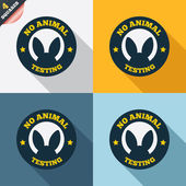 No animals testing sign icon. Not tested symbol — Stockfoto