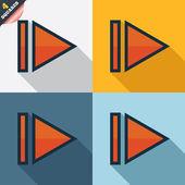 Arrow sign icon. Next button. Navigation symbol — Stockfoto
