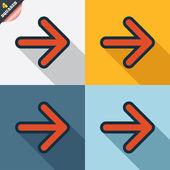Arrow sign icon. Next button. Navigation symbol — Foto de Stock