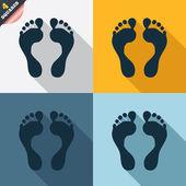 Icono de signo de huella humana. símbolo de pies descalzo. — Foto de Stock