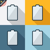 Battery empty sign icon. Low electricity symbol — Stockfoto