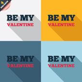 Be my Valentine sign icon. Love symbol. — Foto de Stock