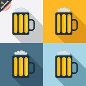 стакан пива знак значок. алкоголь напиток символ. — Стоковое фото