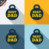 Best dad sign icon. Award weight symbol. — Foto de Stock
