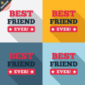 Best friend ever sign icon. Award symbol. — Fotografia Stock