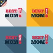 Meilleure maman jamais signer icône. symbole du prix. — Photo