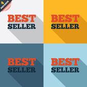 ícone de sinal melhor vendedor. símbolo de prêmio melhor vendedor — Foto Stock