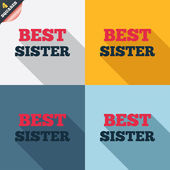 Best sister sign icon. Award symbol. — Photo