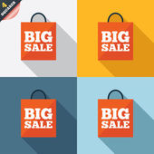 Big sale bag sign icon. Special offer symbol. — Zdjęcie stockowe