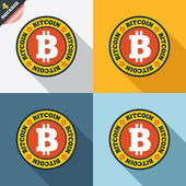 Bitcoin sign icon. Cryptography currency symbol — 图库照片