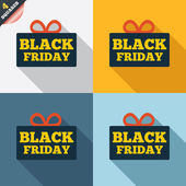 Black friday gift sign icon. Sale symbol. — Stok fotoğraf
