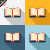 Book sign icon. Open book symbol. — Stockfoto