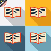 Book sign icon. Open book symbol. — 图库照片