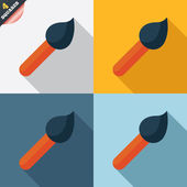 Paint brush sign icon. Artist symbol. — Stockfoto