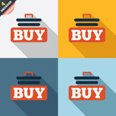 Buy sign icon. Online buying cart button. — Photo