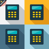 Calculator sign icon. Bookkeeping symbol. — Stok fotoğraf