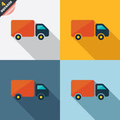 Delivery truck sign icon. Cargo van symbol. — Foto de Stock