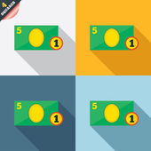 Cash sign icon. Money symbol. Coin. — Stockfoto