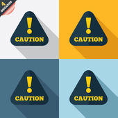 Attention caution sign icon. Exclamation mark. — Foto de Stock