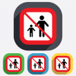 One-parent family with one child sign icon. — Stockvector