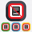 Stock Vector: File document icon. No Download doc button.