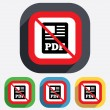PDF file document icon. No Download pdf button. — Stock Vector