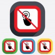 Do not touch. Hand cursor sign icon. — Stock Vector