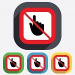 Do not touch. Hand cursor sign icon. — Stock Vector #42417419