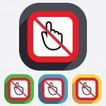 Do not touch. Hand cursor sign icon. — Stock Vector #42417445
