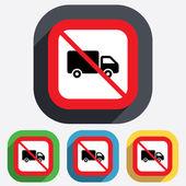 没有送货卡车标志图标。货物范符号. — 图库矢量图片
