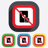 Inga tecken på en symbol för casino. spelkort med tärningar. — Stockvektor