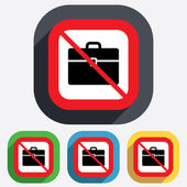 Case sign icon. No Briefcase button. — Stock Vector