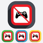 Do not play. Joystick sign icon. Video game. — Stock Vector