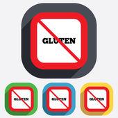 Gluten free sign icon. No gluten symbol. — Stock Vector