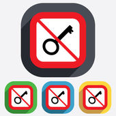 Do not open. Key sign icon. Unlock tool symbol. — Wektor stockowy