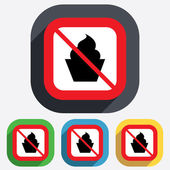 No food. Muffin sign icon. Sweet cake symbol. — Stock Vector