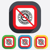 No smoking day sign icon. Quit smoking day. — Stockvector