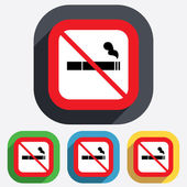 No Smoking sign icon. Cigarette symbol. — Stock Vector