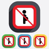 No Pregnant sign icon. Pregnancy symbol. — Stock Vector