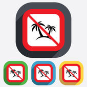 Palm Tree sign icon. Travel trip symbol. — Stock Vector