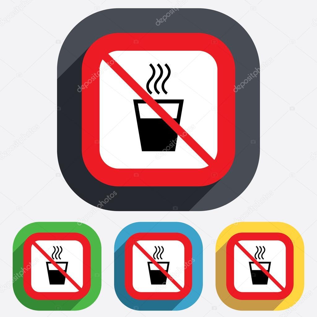 no hot water sign icon hot drink symbol stock vector  u00a9 blankstock 42417603 stop sign vector graphics stop sign vector artwork