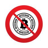 Icono de signo de bitcoin. símbolo de moneda de criptografía — Foto de Stock