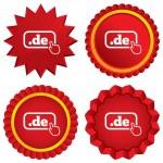 Domain DE sign icon. Top-level internet domain — Stock Photo #42453731