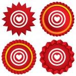 Target aim sign icon. Darts board symbol. — Stock Photo